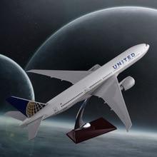 47cm Boeing 777 Aircraft Model Airlines Airlines United United States State B777 Model i aeroplanit rrëshirë Airbus Airways Model Modeli i Dhuratës së Suvenirit të Udhëtimit
