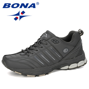 Image 5 - BONA chaussures de Sport dextérieur pour hommes, baskets de créateur, de course, de course, de course, de vache, tendance, nouvelle collection 2019