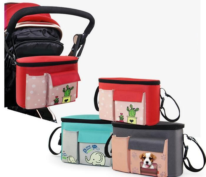 Diaper-Bags Nappy Mommy Baby Waterproof Brand for Strollers Thermal-Insulation