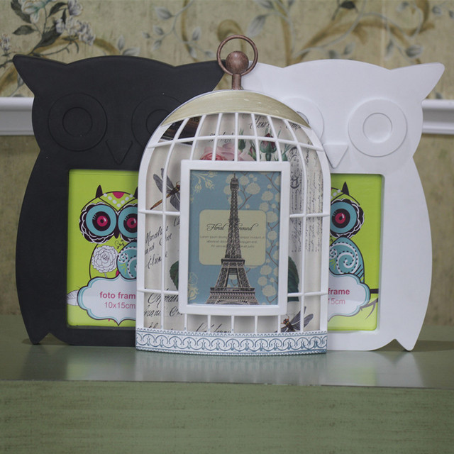 New Arrival Owl Birds Photo Frame With Cage Frames 4x7 Inch For Home
