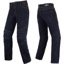 BENKIA Men Motorcycle Racing Denim Pants Moto Jeans Motorbike Racing Pants Pantalon Moto Motocross Clothing