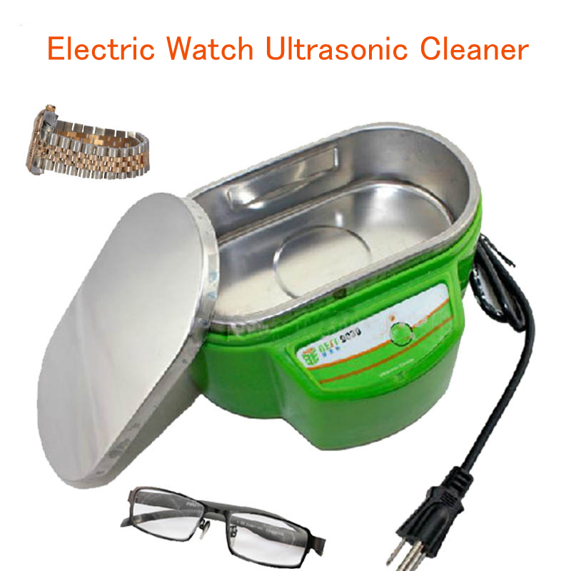 Electric Watch Ultrasonic Cleaner Jewelry Cleaning Tool Watch/Glasses Small Ultrasonic Cleaning Machine with English Manual 9030 high quality ultrasonic cleaner jewelry dental watch glasses toothbrushes cleaning tool ultrasonic washing machine cleaning