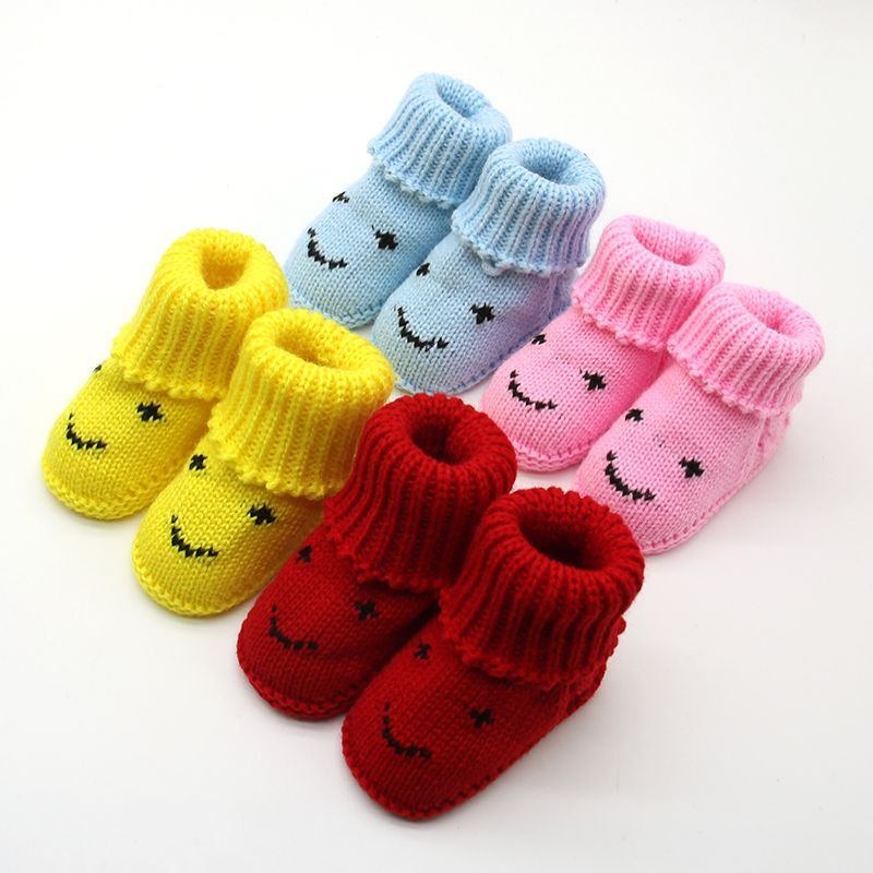 вязаные крючком пинетки зима осень теплые сапоги и ботинки для