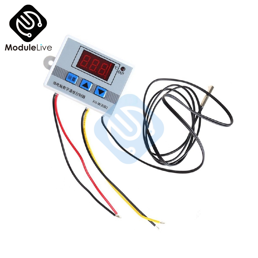 <font><b>W3002</b></font> 110V 220V LED Digital Temperature Controller Thermos Thermoregulator Sensor Meter Heating Cooling+1m 10k 3950 Wire image