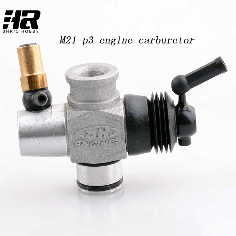 Free shipping RC car 1/8 SH21 engine parts m21-p3 engine carburetor alcasta m21 6x15 5x112 d57 1 et47 bk