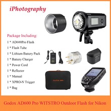 лучшая цена Godox AD600 Pro WITSTRO All-in-One Outdoor Flash AD600Pro TTL HSS with Built-in 2.4G Wireless X System +Xpro-N Trigger for Nikon