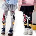 Детская юбка-брюки для девочек, хлопковые детские леггинсы с мультяшным принтом «kiss mouse», детская юбка-штаны, осенне-зимняя одежда для девоч...