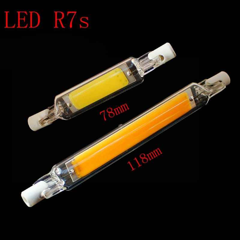 Dimmable Bulb LED R7S Glass Tube 118mm 78mm Instead of halogen lamp cob 220V 230v Energy saving powerful R7S led bulb 15W 30W