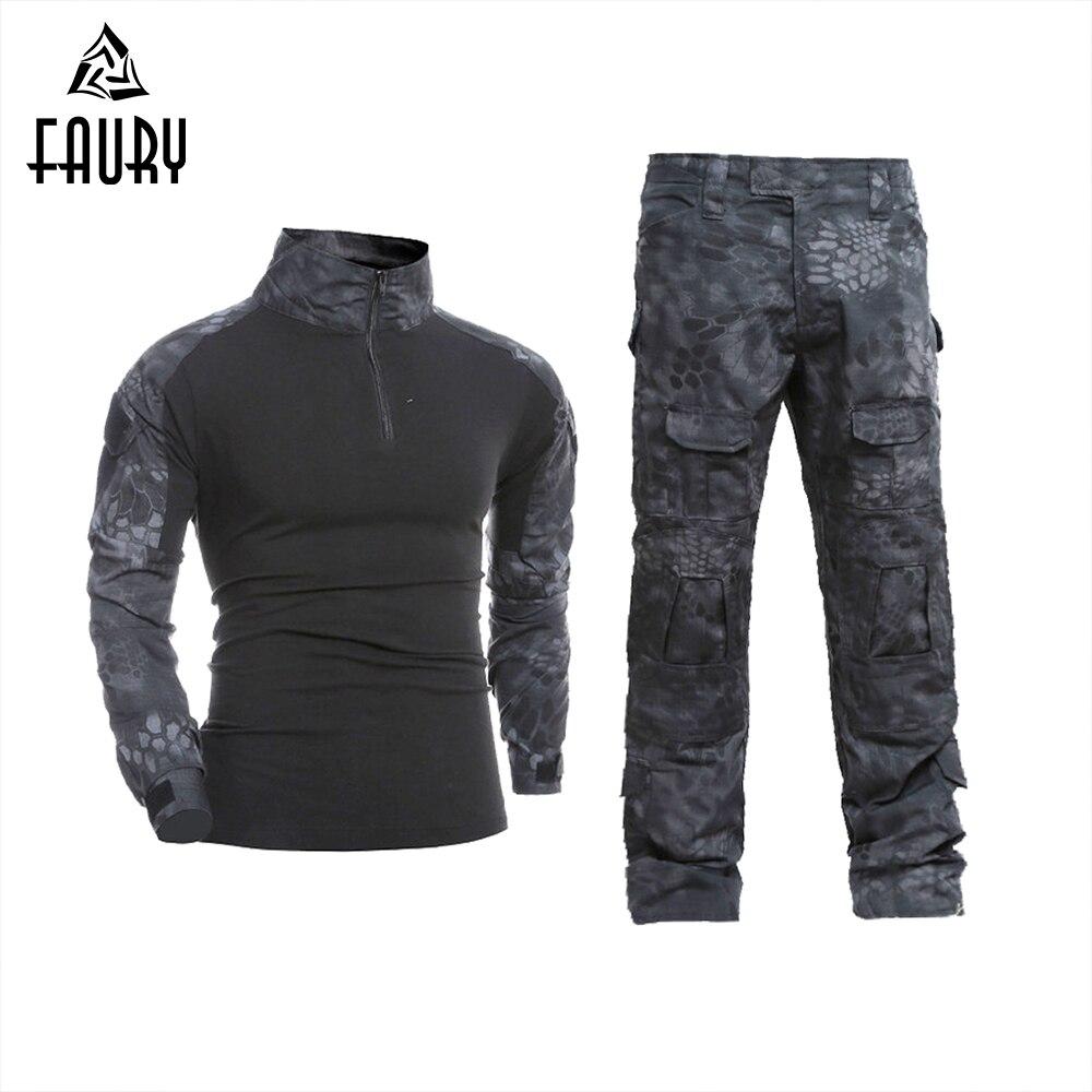 Hommes Tactique Militaire Uniforme Vêtements Camouflage Camouflage Combat Costume Militaire Vêtements pour Hunter et De Pêche Chemise Pantalon