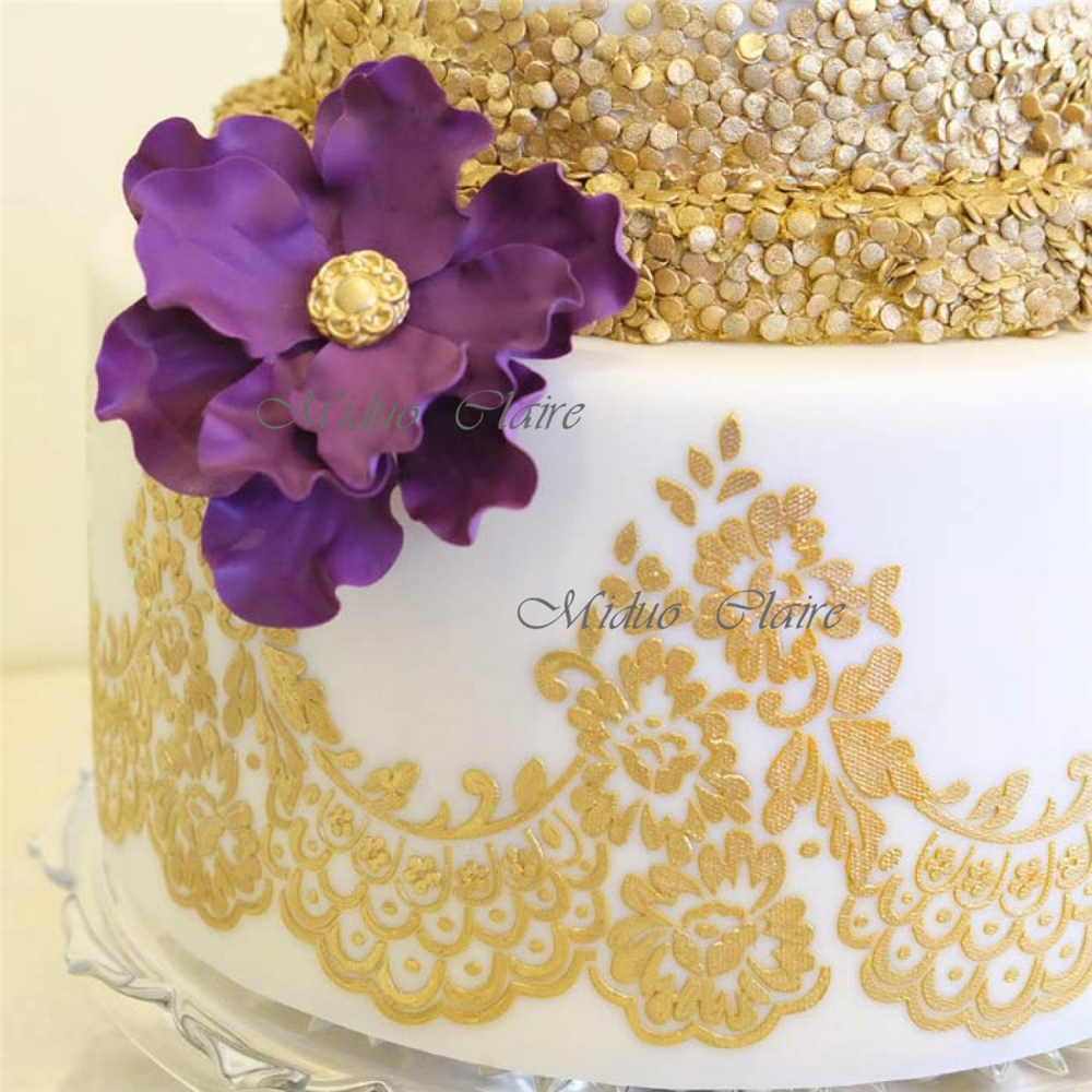 Mantilla Lace Stencil-in Cake Molds from Home & Garden on Aliexpress ...