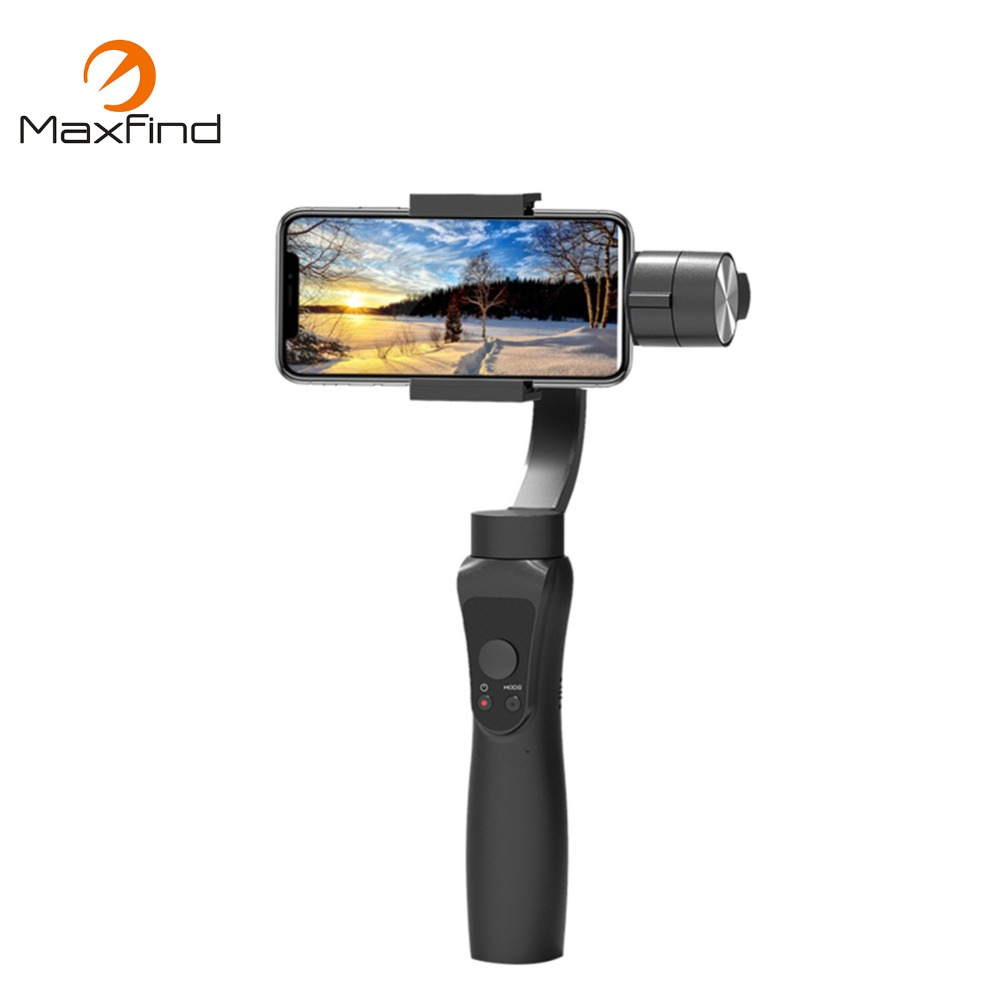 Maxfind Smooth S5 3-Axis Handheld Gimbal Portable Stabilizer Camera Mount for Smartphone Iphone Action Camera osmo handheld ptz camera accessories handheld steadygrip 4k camera and 3 axis gimbal seat mount bracket free shipping