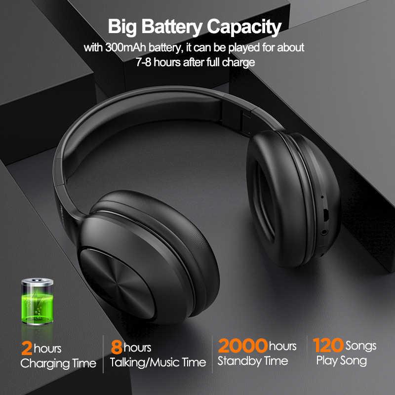 Mixcder HD901 Bluetooth ヘッドフォンワイヤレスヘッドセットとマイク TF カード音楽折りたたみ調節可能なイヤホン