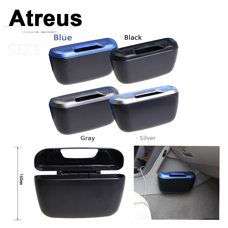 Atreus 1Pcs Car Trash Can Rubbish Side Door Storage Box For Lexus Honda Civic Opel astra h j Mazda 3 6 <font><b>Kia</b></font> Rio Ceed Volvo Lada image
