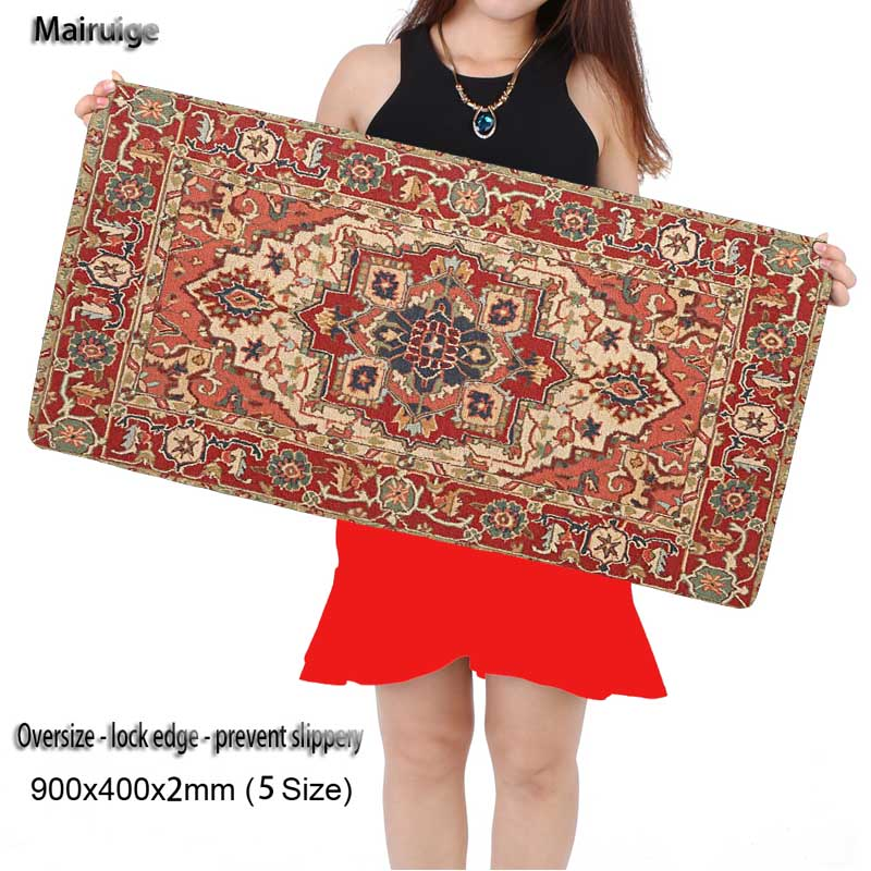Mairuige Shop Top Game Persian Carpet Print Locking Edge Computer Gaming Mouse pad Rubber Play Mat for CS GO League of Legends