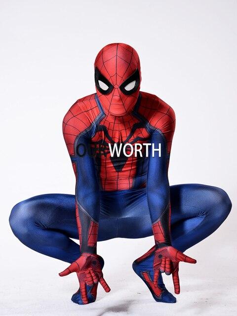Rot Schwarz Insomniac Spiderman Kostum 3d Drucken Spandex Ps4 Spiele