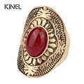 NEW 2017 Fashion Big Ring For Women Vintage Jewelry Plating Ancient Gold With Collocation MIDI Finger Knuckle Ring