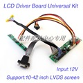 Universal LCD Monitor Driver Board Kit w/ Keypad VGA Cable Built-in 23 Programs Support 10-42'' LVDS Screen Free Shipping