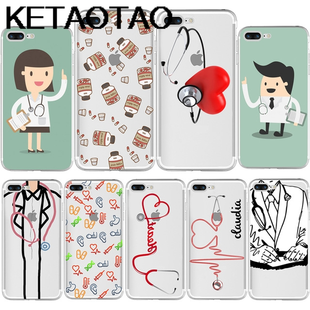 Ketaotao Medical Love Heart Doctor Nurse Phone Cases For Iphone 4 5c 5s 6s 7 8 Xr Xs Max Case Crystal Clear Soft Tpu Cover Cases To Invigorate Health Effectively Cellphones & Telecommunications
