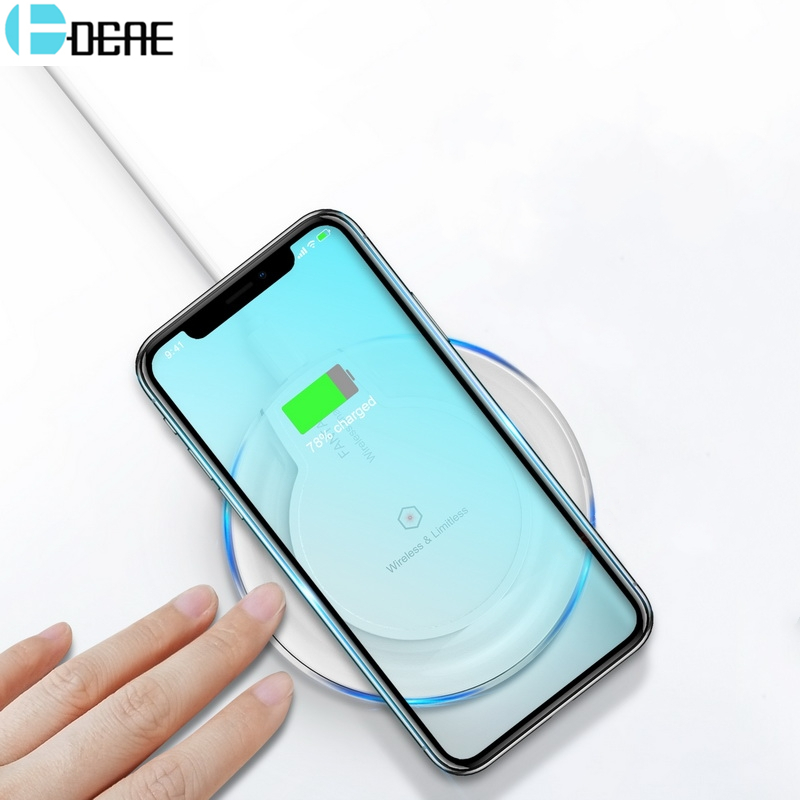 DCAE Qi Wireless Charger For Samsung Galaxy S9 S8 Plus Note