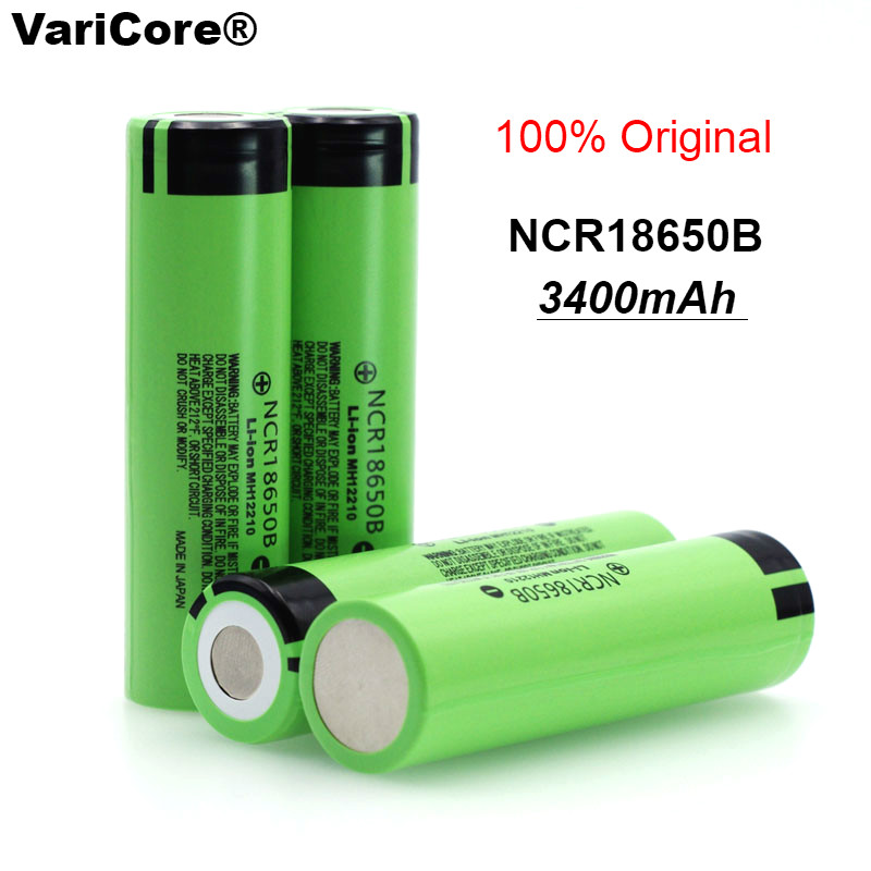 VariCore New Original 18650 NCR18650B Rechargeable Li-ion Battery 3.7V 3400mAh For Flashlight Use