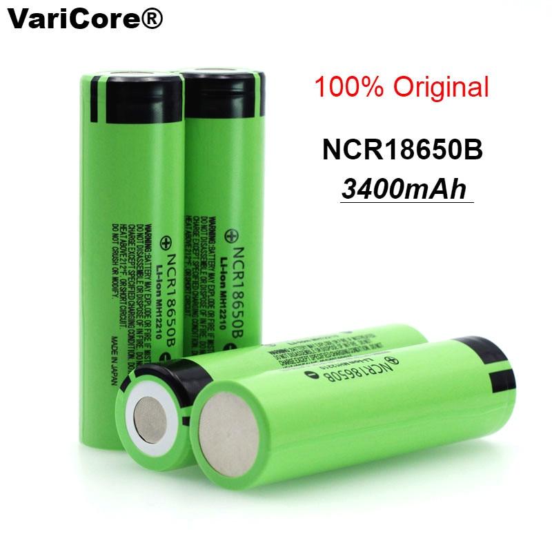4 pcs/lot New Original 18650 NCR18650B Rechargeable Li-ion battery 3.7V 3400mAh For Panasonic