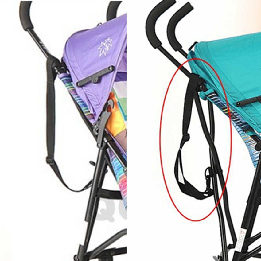 ขายร้อนรถเข็นเด็กทารก Suspenders รถร่ม Suspenders สีปรับสั้นยาวรถเข็นเด็กกระเป๋าเดินทางเชือกสายคล้องมือ