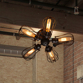 New Loft industrial wind lamp wall lamp Vintage American country 5 grapefruit lamp GY107