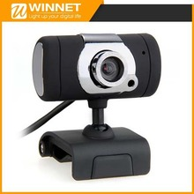 USB Webcam Web Cam Camera MIC CD for Desktop PC Laptop Black