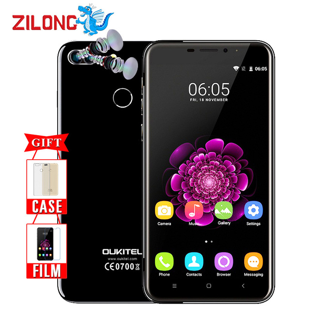 "Original Oukitel U20 Plus Dual camera Smartphone 5.5"" IPS FHD MTK6737T Quad Core Fingerprint ID 13MP 3300mah 2G+16G Mobile phone"