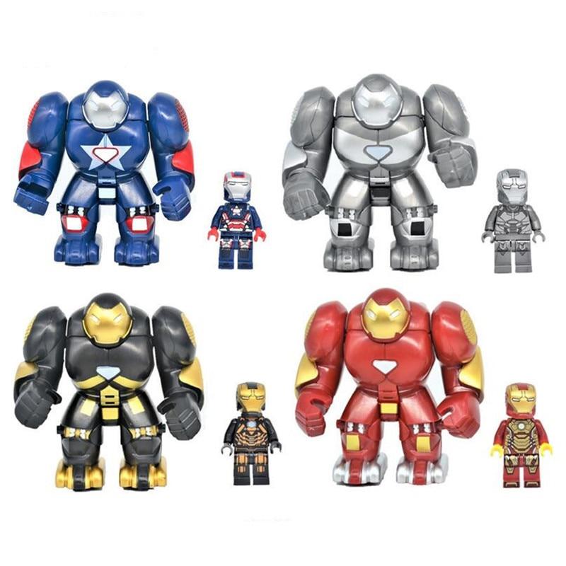 Diy Marvel Super Heros Captain America Iron Man Model Blocks Action Figures Compatible With Legoingly Bricks Toys For Children