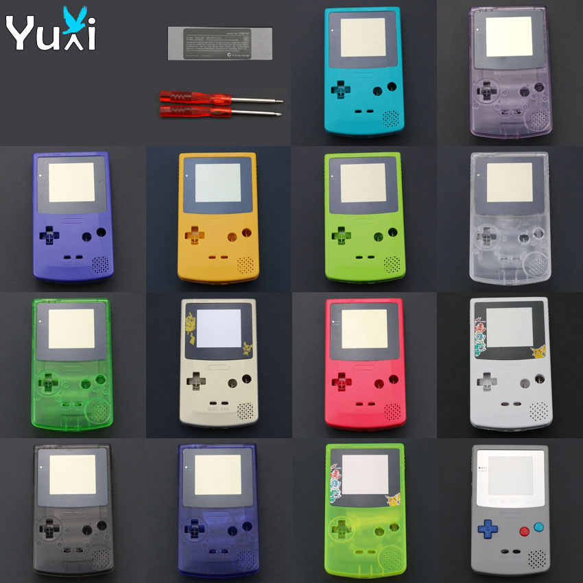 YuXi Full Housing Shell Cover Replacement Part for Nintendo for Gameboy Color for GBC Console Case with tools