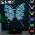 Butterfly 3D Night Light RGB Changeable Mood Lamp LED Light DC 5V USB Decorative Table Lamp Get a free remote control HUI YUAN