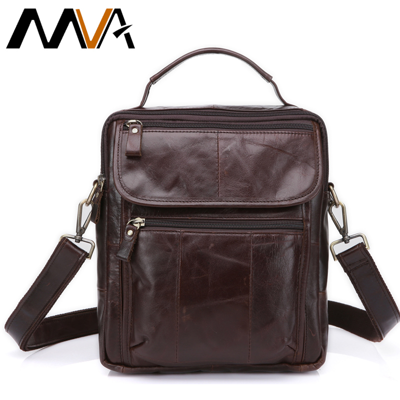 ФОТО MVA Genuine Leather Bag top-handle Men Bags Shoulder Crossbody Bags Messenger Small Flap Casual Handbags Male Leather Bag New