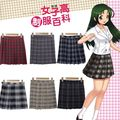 Kawaii Японский Косплей Женщины Девушки Равномерное Dress Плед Плиссированные Мини-Юбка Шесть Цветов