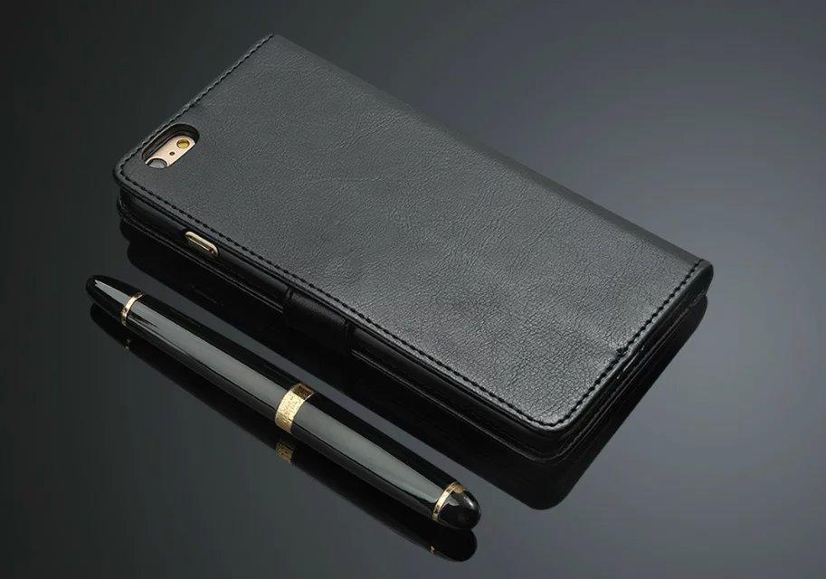 Lyxig PU-läder Flip Wallet-telefonväska för Apple IPhone 6 6S Plus - Reservdelar och tillbehör för mobiltelefoner - Foto 6