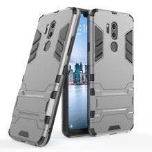 For LG G7 ThinQ Anti Shock Hybrid Tank Armor Case Dual Layer Soft TPU & Hard Back Kickstand Cover For LG G7 ThinQ / G7 G710EM цена и фото