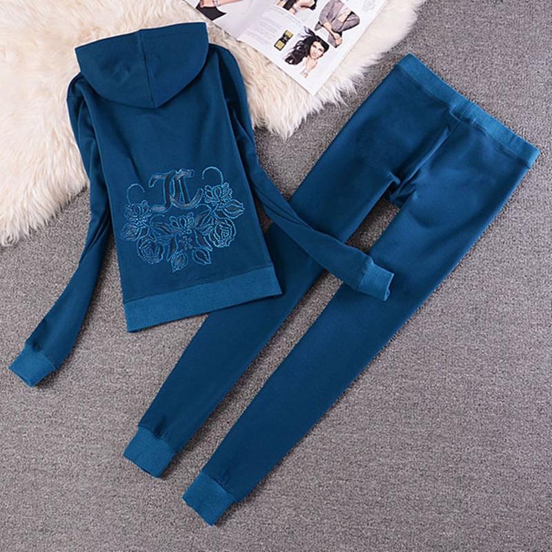 Costumes Capuche Zipper pink Et Dames 2 Green Long Pièces Black white Tracksu Femmes Femelle automne hiver Mince Pantalon Coton ink Tops Ensembles Printemps Sportives qwIOpx7R