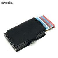 CaseKey business card case Aluminum Holder Metal Box Cover Credit business card holder card metal Wallet men