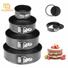 Bakeware Baking Pans Kitchen Cake mold Small Round baking dish Heavy Carbon Non-stick Slipknot Removable Base Tray 4/6/8/10 inch