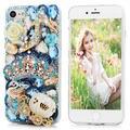 3D Diamante Hecho A Mano Para Iphone 7 Plus 5.5 Pulgadas De Lujo De Bling Rhinestone Brillante Glitter Crystal Clear Dura De La Pc Volver
