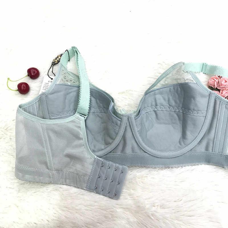 חדש סקסי תחרה הלבשה תחתונה גדול גודל 36-44CDE חזייה דק כותנה לנשימה נוחות תחתונים לאסוף חזיית מתכווננת