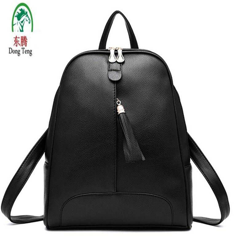 Women s PU Leather Backpack Mochila School Bags Teenagers Female College Students Bag