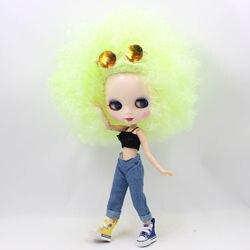 ICY DBS lalki Blyth, ale nie gwarantujemy poprawności wszystkich danych. BL400 fluorescencyjny zielony małe curl włosy Afro wspólne body biała skóra Neo 1/6 BJD