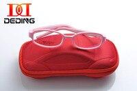 Deding enfants lunettes optiques No vis pliable, Enfants monture de lunettes TR90 et silicone Double couche sécurité Flexible cadre DD0278