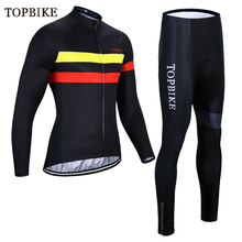 TOPBIKE Winter Cycling Clothing Thermal Fleece Kit Mens Jersey Pro Team Ropa Ciclismo Invierno uniforme suits