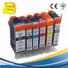 PGI 520 PGI520 PGI-520 PGI-520XL CLI521 XL Inkjet Cartridges Replacement For Pixma MP980 MP990 MP-980 MP-990 MP 980 990(China)