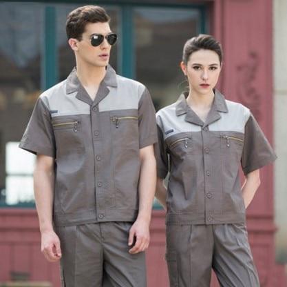 Set of Coat+Pants short sleeve factory summer auto repair car beauty clothes