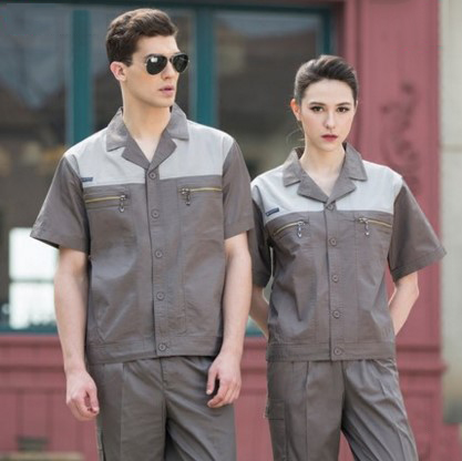 Set of Coat+Pants short sleeve factory uniform summer auto repair uniform car beauty clothes men out of uniform