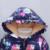 Niñas Abrigo de Invierno 2016 de Conejo de Dibujos Animados de Graffiti de la Cremallera de Algodón Con Capucha Parkas Chaquetas Para Niñas de Manga Larga Chaquetas de Los Niños