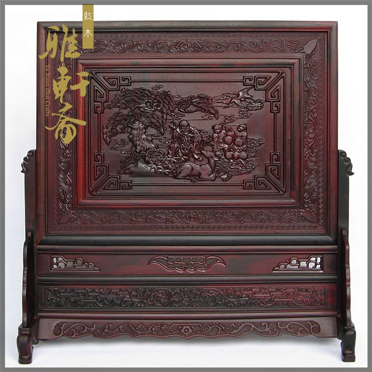 D Gallery] mahogany crafts boutique large vegetarian rosewood mahogany table ornaments longevity plaque screen